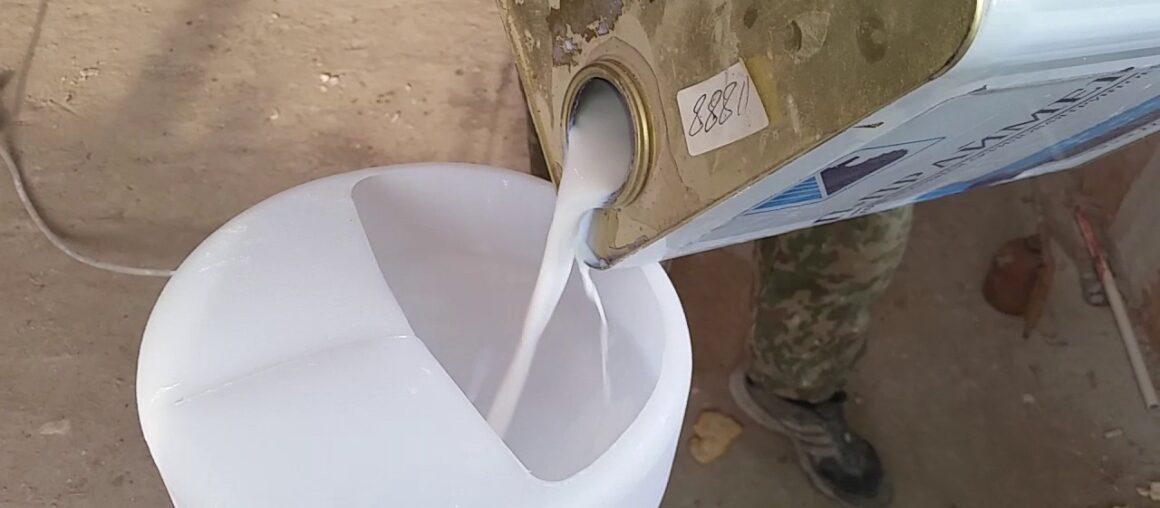 Грунтовка стен с помощью компрессора